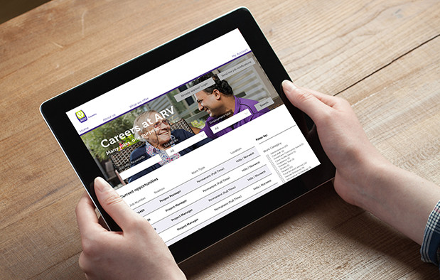 Anglican Retirement Villages site on tablet