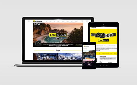 My Nikon Life site on devices