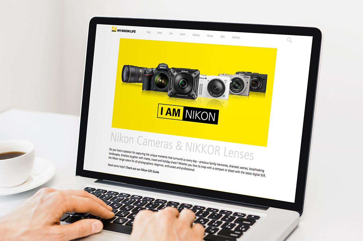 My Nikon Life site on laptop